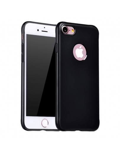 Carcasa protectie spate cu suprafata mata pentru iPhone 7 Plus, neagra