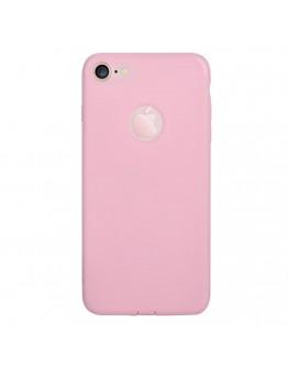 Carcasa protectie spate din gel TPU pentru iPhone 7, roz