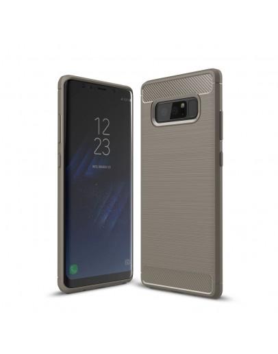 Carcasa protectie spate din gel TPU pentru Samsung Galaxy Note 8, gri