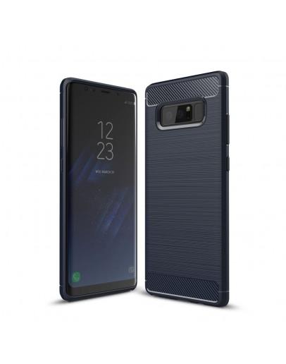 Carcasa protectie spate din gel TPU pentru Samsung Galaxy Note 8, albastra inchis