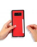 Carcasa protectie spate cu suport pentru card pentru Samsung Galaxy Note 8, rosie