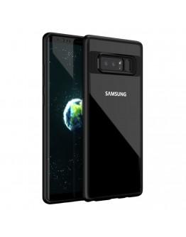 Carcasa protectie spate din gel TPU si acrilic pentru Samsung Galaxy Note 8, neagra