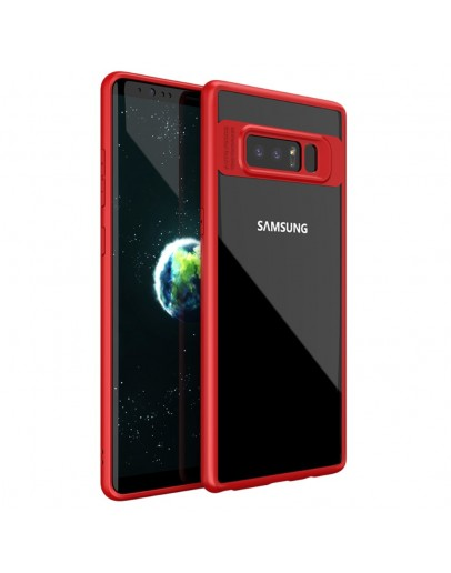Carcasa protectie spate din gel TPU si acrilic pentru Samsung Galaxy Note 8, rosie