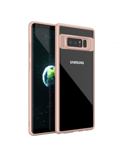 Carcasa protectie spate din gel TPU si acrilic pentru Samsung Galaxy Note 8, rose gold