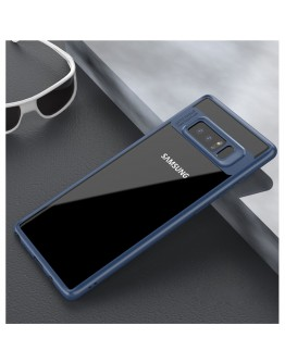 Carcasa protectie spate din gel TPU si acrilic pentru Samsung Galaxy Note 8, albastra