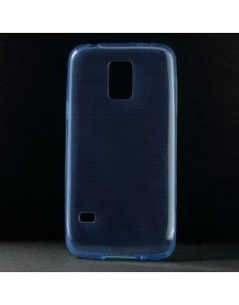 Carcasa protectie spate 0.6 mm pentru Samsung Galaxy S5 mini G800 - albastra