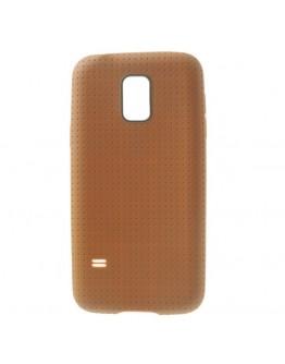 Carcasa protectie spate gel TPU pentru Samsung Galaxy S5 mini G800 - maro