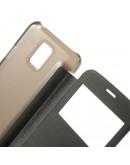 Husa de protectie flip cover cu ferestra pentru Samsung Galaxy S5 mini - neagra
