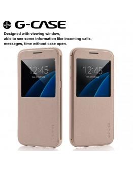 Husa protectie cu fereastra G-Case pentru Samsung S7 Edge G935, gold