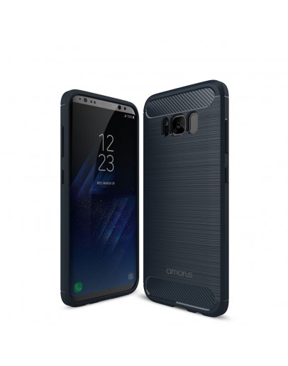 Carcasa protectie AMORUS din gel TPU pentru Samsung Galaxy S8+ G955, Albastra inchis