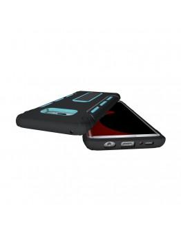 Carcasa protectie spate 2 in 1 pentru Samsung Galaxy S8+ G955, albastra