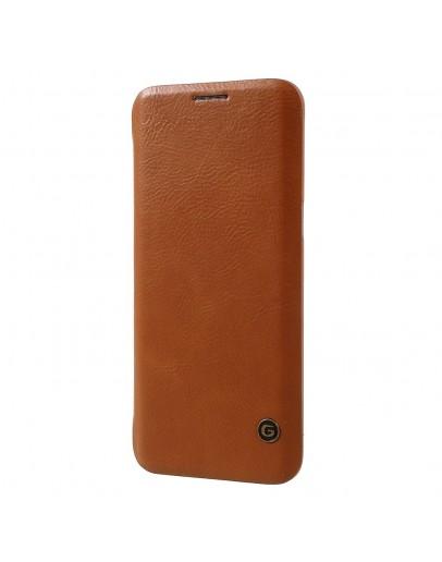 Husa protectie G-Case din piele ecologica pentru Samsung Galaxy S8 Plus, maro