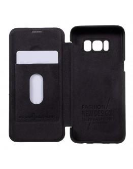 Husa protectie G-Case din piele ecologica pentru Samsung Galaxy S8, negru
