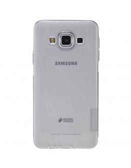 Carcasa protectie spate slim 0.6 mm pentru Samsung Galaxy A3 SM-A300F - gri