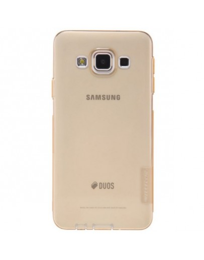 Carcasa protectie spate slim 0.6 mm pentru Samsung Galaxy A3 SM-A300F - gold