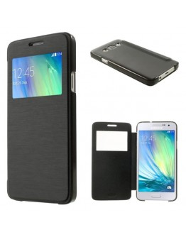 Husa protectie flip cover pentru Samsung Galaxy A3 SM-A300F - neagra