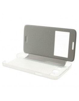 Husa protectie flip cover pentru Samsung Galaxy A3 SM-A300F - alba