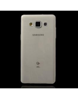 Carcasa protectie spate gel TPU 0.6 mm pentru Samsung Galaxy A5 SM-A500F - gri