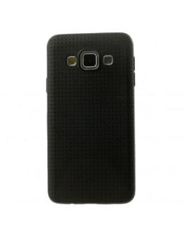 Carcasa protectie spate tip mesh pentru Samsung Galaxy A5 SM-A500F -  neagra