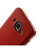 Carcasa protectie spate tip mesh pentru Samsung Galaxy A5 SM-A500F -  rosie