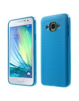 Carcasa protectie spate tip mesh pentru Samsung Galaxy A5 SM-A500F -  albastra