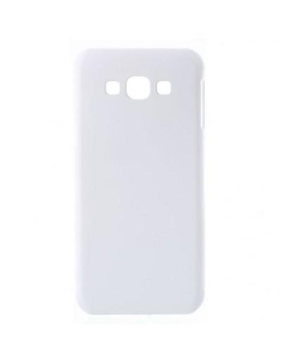 Carcasa protectie spate din plastic cauciucat pentru Samsung Galaxy A8 SM-A800F, alba