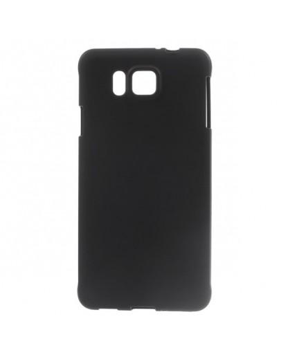 Carcasa protectie spate mata din gel TPU pentru Samsung Galaxy Alpha SM-G850 - neagra