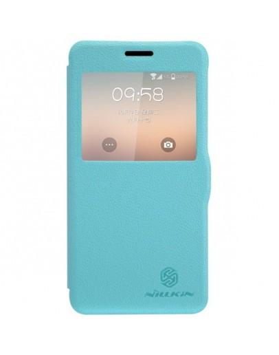 "Husa protectie cu ""Window View"" pentru Samsung Galaxy Alpha G850 - albastra"