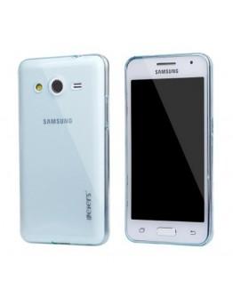 Carcasa protectie spate 0.5 mm pentru Samsung Galaxy Core 2 G355H  - albastra