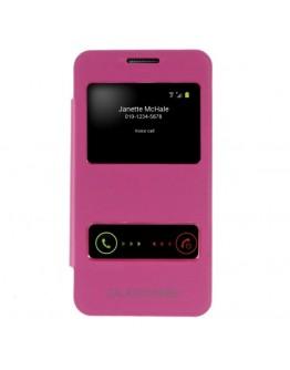 "Husa protectie ""Window View"" pentru  Samsung Galaxy Core 2 G355H - roz"