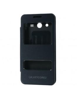 "Husa protectie ""Window View"" pentru  Samsung Galaxy Core 2 G355H - albastru inchis"