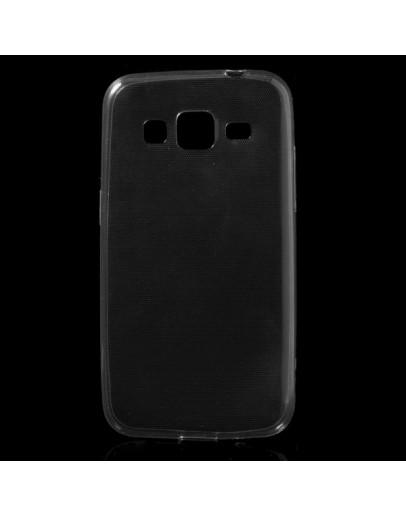 Carcasa protectie spate 0.6mm din gel TPU pentru Samsung Galaxy Core Prime G360 - gri