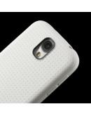 "Carcasa protectie spate ""Mesh"" pentru  Samsung Galaxy S4 - alba"