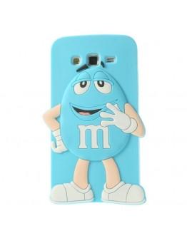 Carcasa protectie spate Happy M&M pentru Samsung Galaxy Grand 2 Duos G7102 - albastra