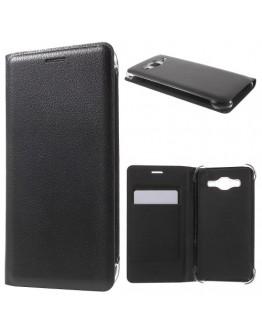 Husa protectie flip cover pentru Samsung Galaxy J5 - neagra