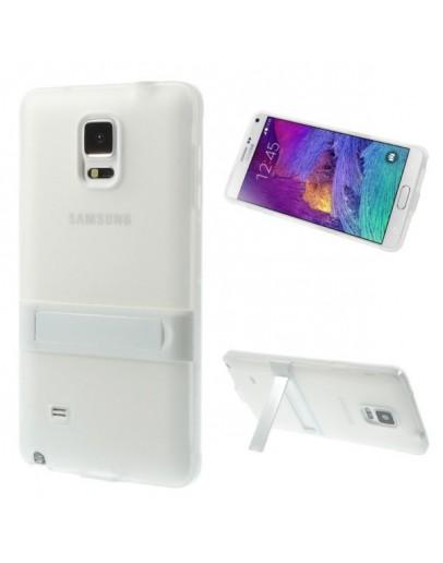 Carcasa protectie spate cu suport pentru Samsung Galaxy Note 4 N910 - alba
