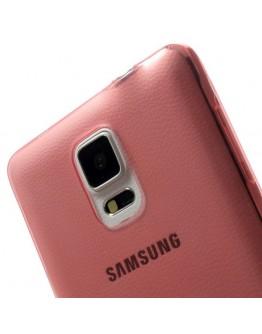 Carcasa protectie spate gel TPU 0.6 mm pentru Samsung Galaxy Note 4 N910 - rosie