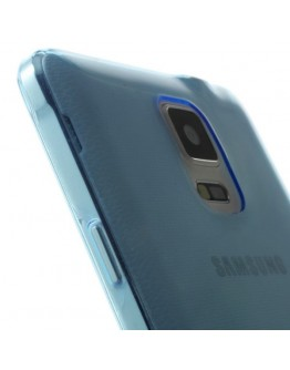 Carcasa protectie spate gel TPU 0.6 mm pentru Samsung Galaxy Note 4 N910 - albastra