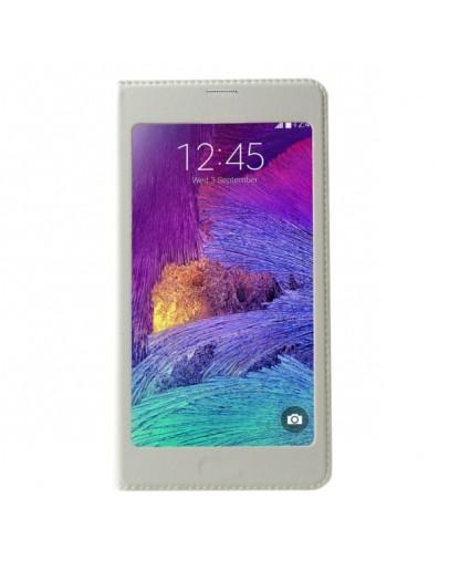 Husa protectie cu ecran mare pentru Samsung Galaxy Note 4 N910 - alba