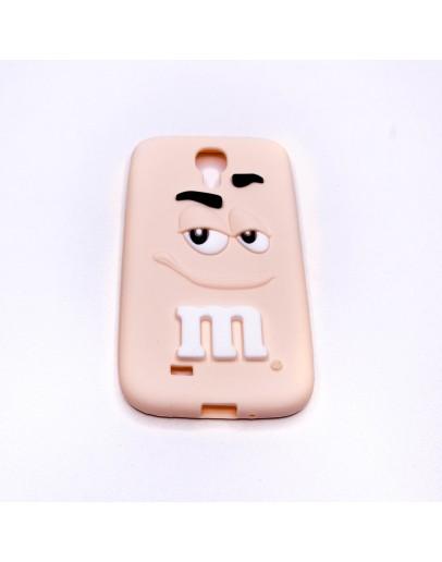 "Carcasa spate ""M&M"" din silicon pentru Samsung Galaxy S4"