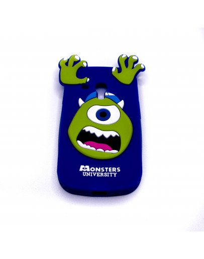 "Carcasa protectie spate ""Monstrul Mike"" pt Samsung S3 Mini"