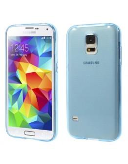 Carcasa protectie gel TPU pentru Samsung Galaxy S5 G900 - albastra
