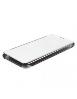 Husa de protectie flip cover cu suprafata oglinda pentru Samsung Galaxy S6 Edge Plus - gri