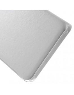 Husa protectie din piele ecologica cu fereastra pentru Samsung Galaxy S6 Edge Plus - alba