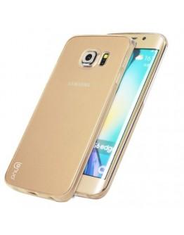 Carcasa protectie spate pentru Samsung Galaxy S6 Edge, gold