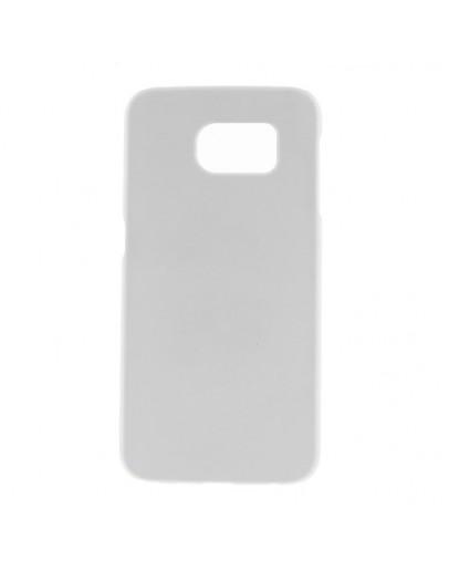Carcasa protectie spate mata din plastic pentru Samsung Galaxy S6 - alba