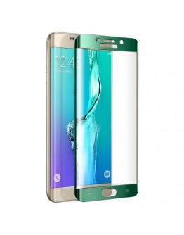 Sticla securizata protectie ecran curbata pentru Samsung Galaxy S6 Edge G925 - verde