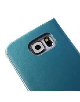"Husa de protectie ""Smart Dot View"" pentru Samsung Galaxy S6 - albastru deschis"
