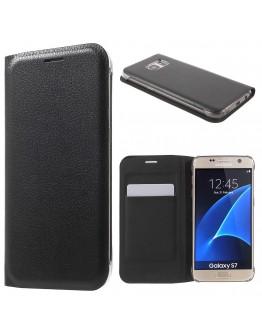 Husa protectie de tip flip cover CS pentru Samsung Galaxy S7 G930, neagra