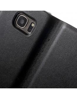 Husa de protectie de tip flip cover CS pentru Samsung Galaxy S7 G930, neagra